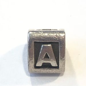 Jewelry - Pandora Sterling Silver Letter A initial Charm